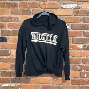Rebellious One Hustle Pullover Hoodie Size Large